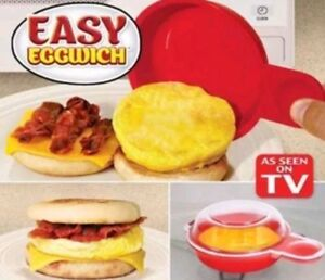 Easy Eggwich Microwavable Egg Cooker Non-stick Breakfast Sandwich as seen on TV