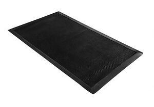 Black Thick Durable Heavy Duty Rubber Outdoor Floor Door Restaurant Entrance Mat