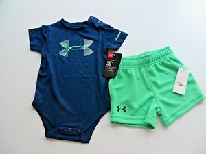 UNDER ARMOUR Set of 2 pieces short and t-shirt for boy keeps you cool size 3  6