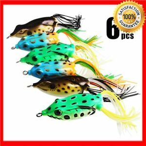 HOT DEALFishing Lures Saltwater Frog Topwater Soft Bass Pike Snakehead Dogfish