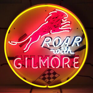 Gilmore Gasoline Neon Sign with Silkscreen Backing 5GSGIL w FREE Shipping