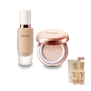 Sulwhasoo Sheer Lasting Foundation & Sheer Gel Cushion Set + Gentle Oil & Foam
