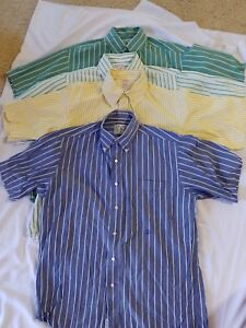Brooks Brothers VINTAGE SPORT Short Sleeve STRIPED Button Up Shirt Size M  Lot 4