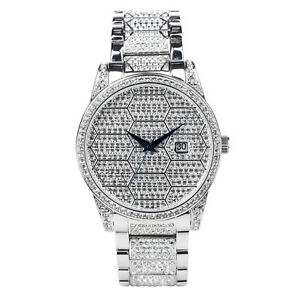 Croton Men's Quartz Crystal Accents Honeycomb Dial Bracelet Watch CN307598RHPV