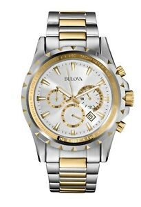 Bulova Marine Star Men's Quartz Chronograph Two-Tone Bracelet 42mm Watch 98B014