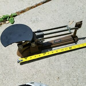 Vintage Ohaus Triple Beam Balance Scale Made in U.S.A. USA RARE Weights Science