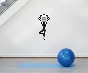 Wall Vinyl Sticker Yoga Lotus Spa Relax Meditation Decal Decor Gift g024