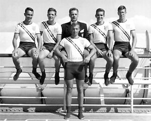USA OLYMPIC ROWING TEAM SAILS FOR 1948 SUMMER OLYMPICS - 8X10 PHOTO (DD224)