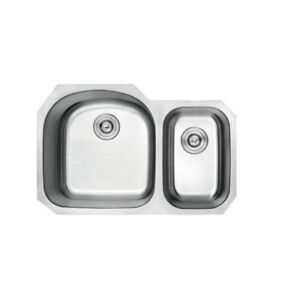 Double Bowl Stainless Steel Kitchen Sink (Strainers not Included)