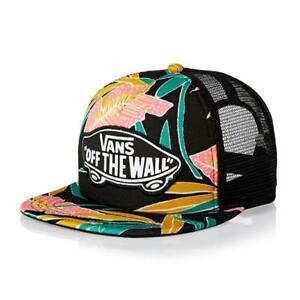 Vans Off The Wall Beach Girl Tropical Trucker Classic Patch Snapback NEW NWT