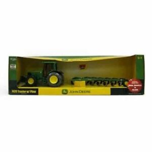 John Deere 7420 Tractor With Blade and 6 Bottom Plow Die Cast Construction Toy
