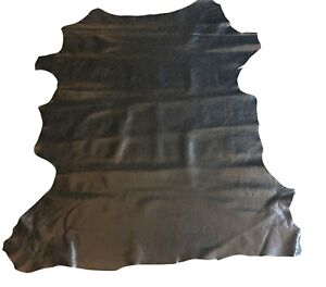Sale Black Leather Hides Genuine Lambskin Skin Craft DIY Upholstery Material 983