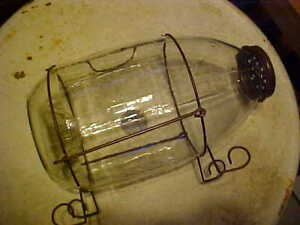 Fishing Tackle Minnow Collector Trap Large Glass Orvs Manchester VT.