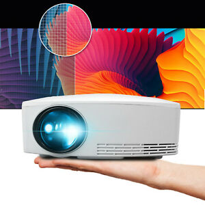 4000lms HD LED Home Theater Projector Multimedia Movie Game Video USB HDMI 1080p