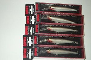 5 RAPALA MR-9 MINNOW RAP LURES  LOT#N13