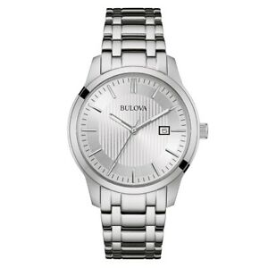 Bulova Men's Watch Quartz Silver-Tone Bracelet 40mm Watch 496B245