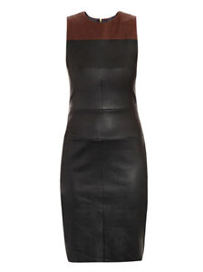 Spring Designer Lamb New Leather Women Dress Cocktail Stylish Party Wear  D-083