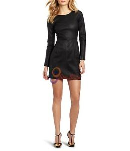 Spring Designer Lamb New Leather Women Dress Cocktail Stylish Party Wear  D-162