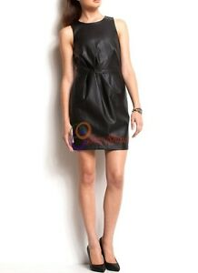 Spring Designer Lamb New Leather Women Dress Cocktail Stylish Party Wear  D-165