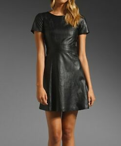 Spring Designer Lamb New Leather Women Dress Cocktail Stylish Party Wear  D-077