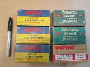 Vintage Western Norma Remington Empty Cartridge Boxes