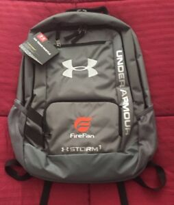 NWT Under Armour UA Team Hustle Storm 1 Backpack Water Resistant Storm1 Gray