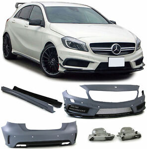 Front rear bumper side skirts complete bodykit for Mercedes a Class W176 from 12