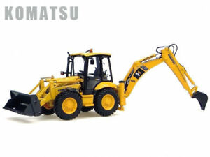New! 1:50 KOMATSU WB97S Construction Excavator Diecast Toy Model Collect UH8015