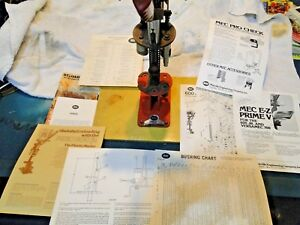 MEC 600 JR 20Ga  Shotshell Reloader w Bunch of Booklets from 1977 to 80 W Base