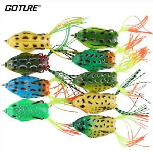 Soft Fishing Lure Wobbler Frog Artificial Bait For Bass Snakehead Fishing Pesca
