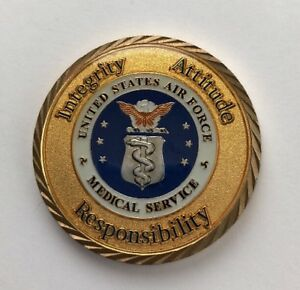 US Air Forces In Europe Ser# 260 Command Surgeon's Coin For Excellence B12