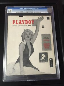 Playboy 1 Cgc 6.5 Page 3 copy Marilyn Monroe Hugh Hefner