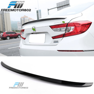 Fits 18-20 Honda Accord 4DR Sedan Trunk Spoiler - Glossy Black GBK