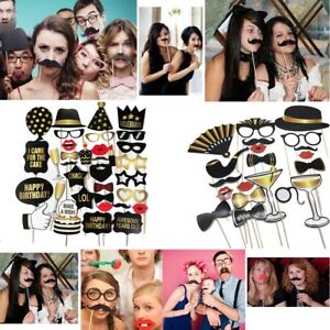 Funny Selfie Party Props Photo Booth Board for Birthday Wedding Chri
