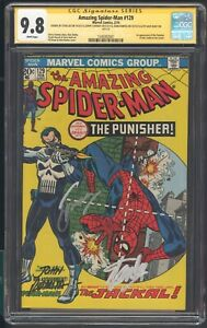 The Amazing SpiderMan 129 Cgc 9.8 SS 4x Lee Conway Romita  Hunt 1st app punisher
