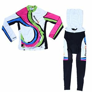 Mzcurse Women's Long Sleeve Cycling Jersey Shirts Compression Bib Pants Se..