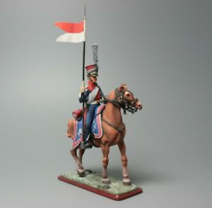 Polish Lancer Cavalry of Old Guard №2 54mm 132 Tin Toy Soldier  Collectible
