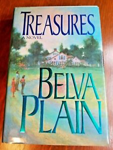 Belva Plain Fiction Hardcover Book TREASURES Novel English 1992 Reading