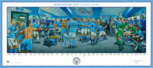 Manchester City Dream Scene Lithograph Unframed - Officially Licensed