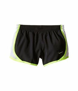 Nike Girls Tempo Running Shorts Kids L Large Youth Dri Fit Anthracite White Volt