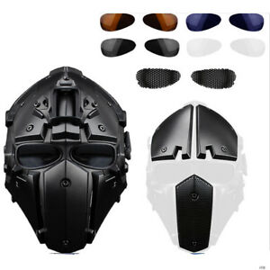 Tactical Airsoft Paintball Full Face Protective Mask Goggles Helmet Military