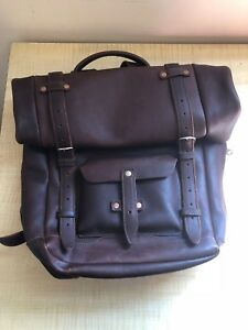 Pad & Quill Leather Heritage Vintage Rolltop backpack - Excellent Condition