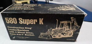 CASE 580 SUPER K LOADERBACKHOE CONSTRUCTION DIECAST CONRAD NZG LE CAT KING