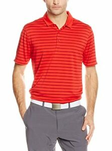 Nike Golf Icon Dri-Fit Polo Shirt Red Stripe Men's Small S Single Knit Jersey