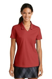 SET OF 12 EMBROIDERY Nike Ladies Dri-FIT Micro Pique Polo RED
