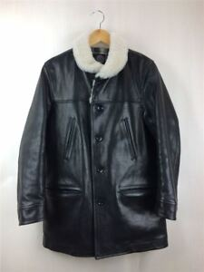 Porter Classic Hose Leather Car Coat S Horse Blk Black Outer (78590