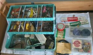 Vintage Simonsen Tackle Box Loaded With Fishing Lures and Miscellaneous Gear