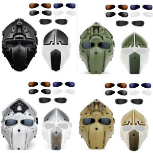 Military WAR Airsoft Hunting Full Face Mask Goggle Tactical Protection Helmet