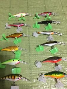 LOT Of 12 BERKLEY FLICKER SHAD LURES  SIZE 5 SOME RAREEXCLUSIVE