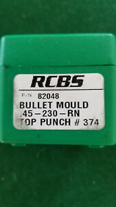RCBS 82048 Cast Iron Bullet Mold 45-230-RN NEW Includes RCBS Top Punch #374